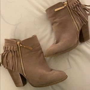 Taupe Western Booties